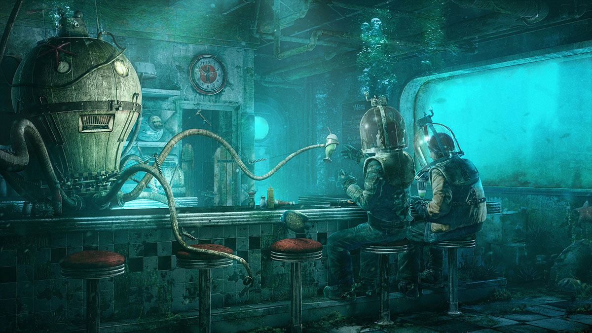 underwater robot bartnender