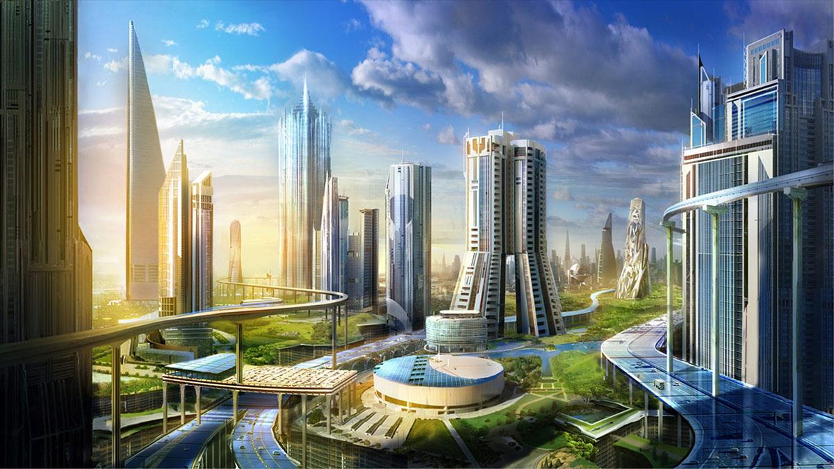 utopian sci-fi city