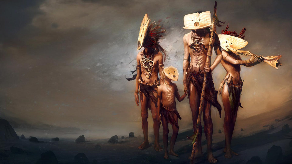 wandering tribal family