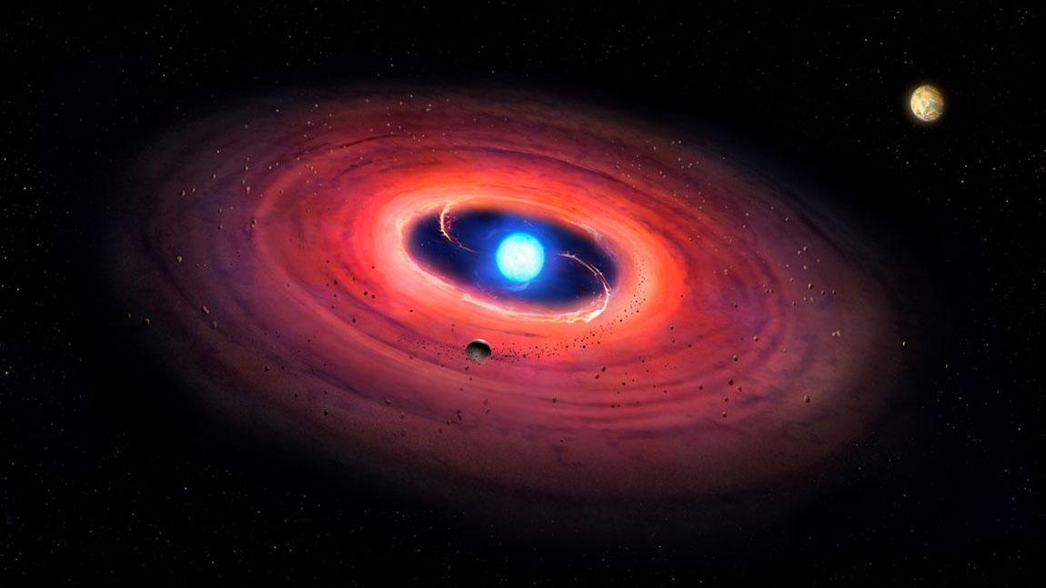 white dwarf solar system