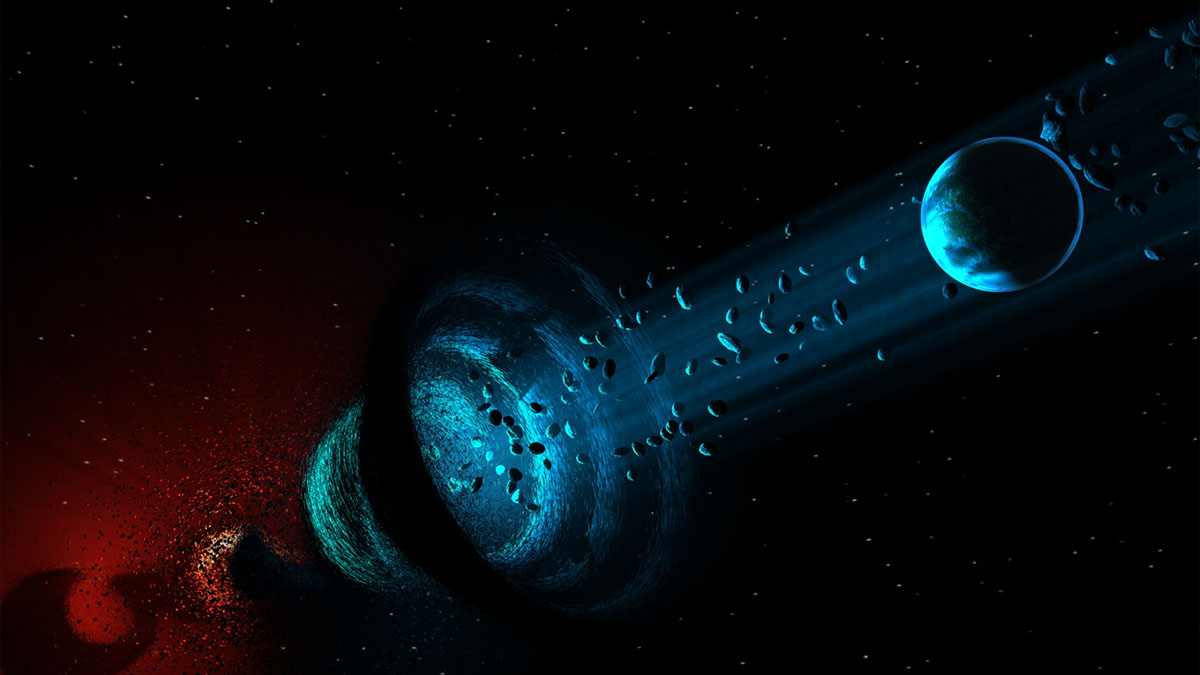 wormhole near planet
